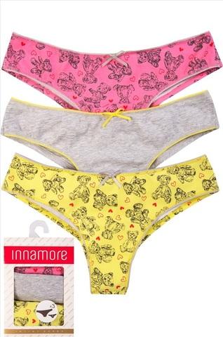 Комплект IMD Bears 83331772 Set Slip (3 пары) Innamore
