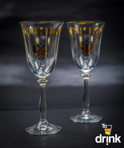 Подарочный набор из 2 хрустальных фужеров под вино «Парламент», 250 мл