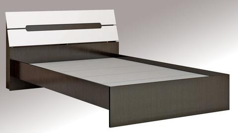 Кровать с осн. ДСП 1,6 Гавана ЛДСП ТЭКС венге/акрил белый
