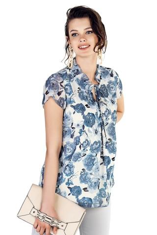 Блузка для беременных 10315 синий