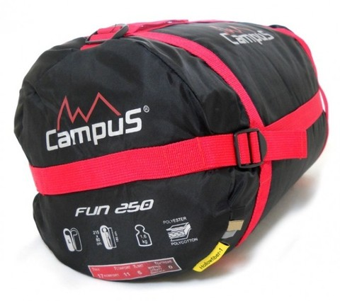 Спальный мешок Campus FUN 250 L-zip (кокон, +3°С, 215x80x55 см)