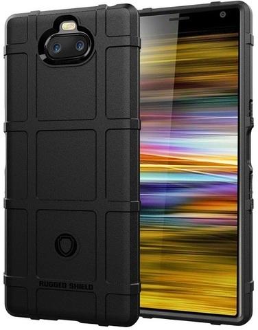 Чехол на Sony Xperia 10 Plus цвет Black (черный), серия Armor от Caseport