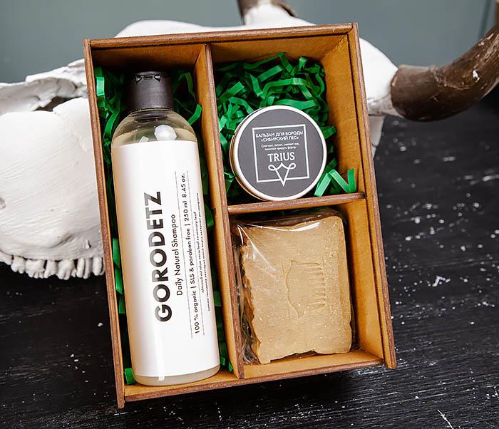Мужской набор из натурального шампуня, бальзама и мыла «HENNESSY»