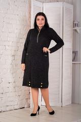 Кейт. Тепле стильне плаття великих розмірів. Чорний