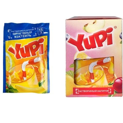 Растворимый напиток YUPI Фруктовый коктель 1кор*6бл*24шт 15г