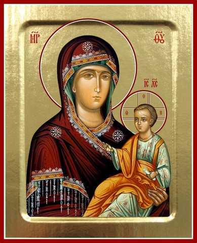 Попская (Иерейская) икона Божией Матери, на дереве, 125х160 мм