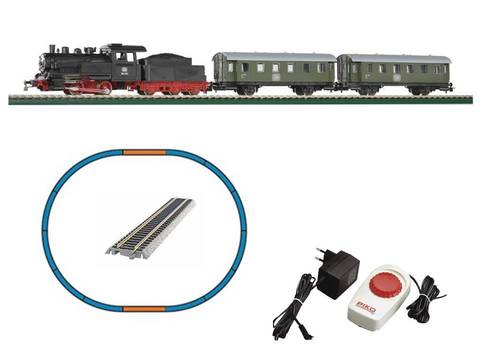 Пассажирский поезд - Паровоз + 2 вагона, DB