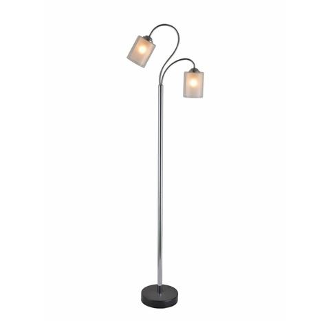 Напольный светильник Escada 10170/L E27*60W Chrome/Black