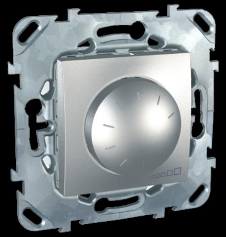 Диммер поворотно-нажимной. Цвет Алюминий. Schneider electric Unica Top. MGU5.511.30ZD