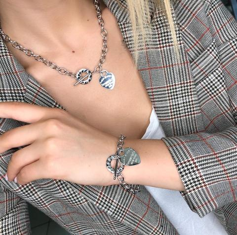 Комплект Tiffany Hearts Сталь