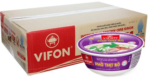 Рисовая лапша-суп Фо Бо в тарелке Vifon