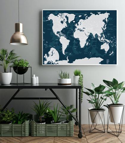 Скретч карта мира AFI Design Emerald