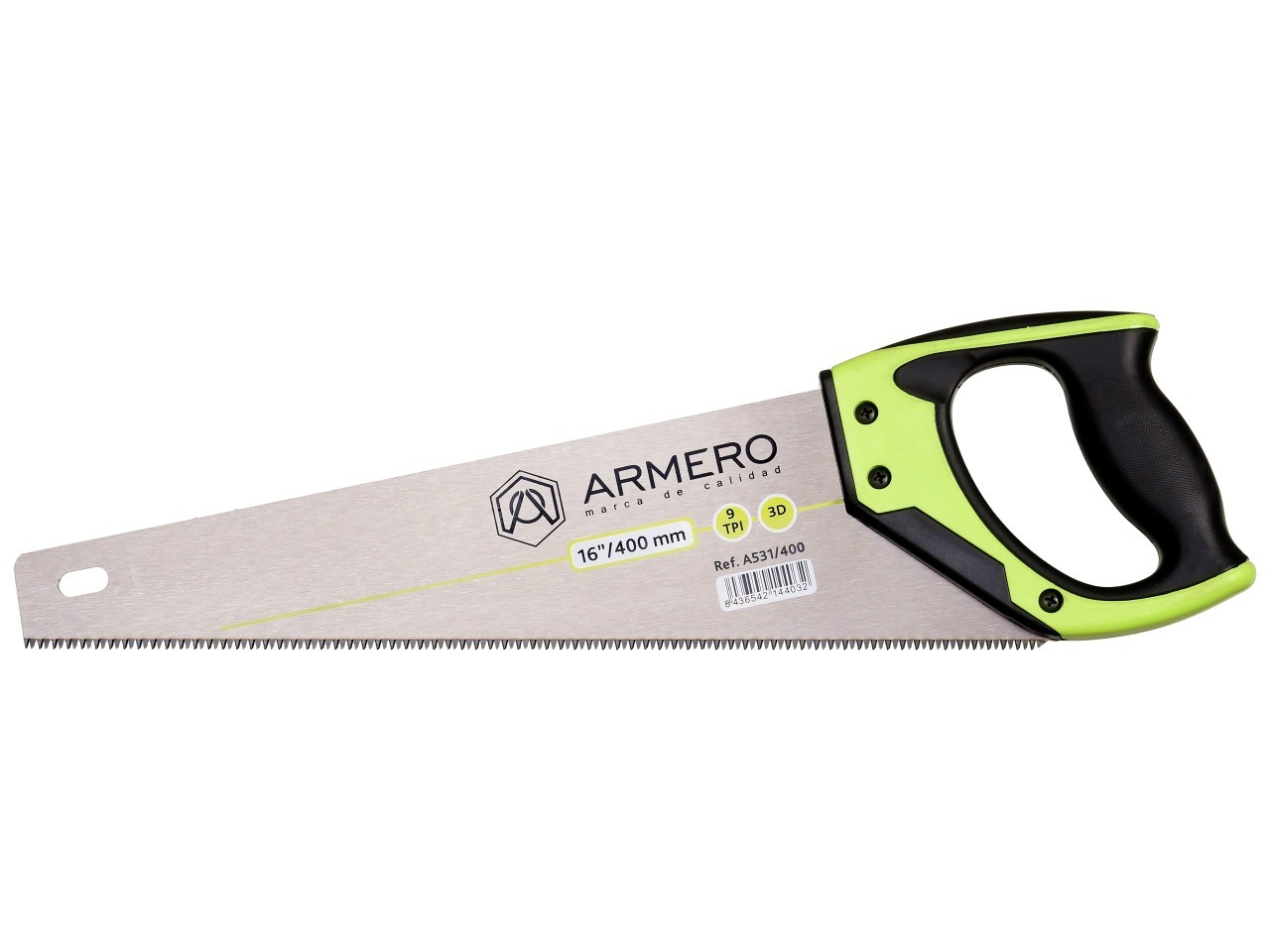Ножовка по дереву A531/400, 400мм, 3d, средний зуб