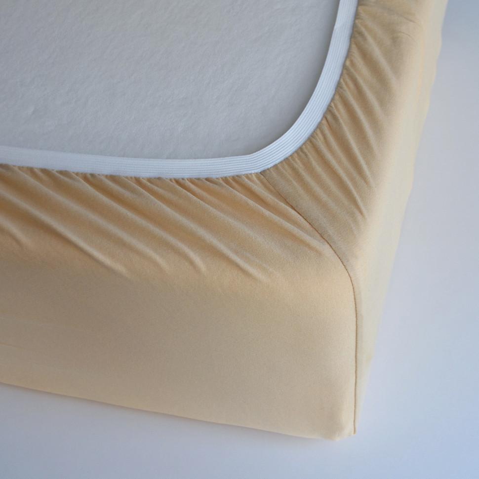 TUTTI FRUTTI медовый - Двуспальная простыня на резинке