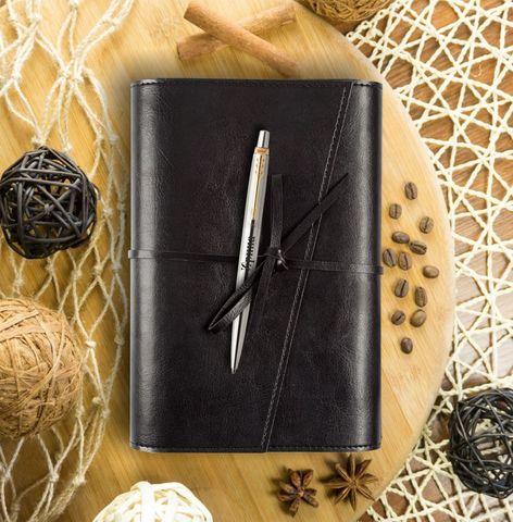 Набор с гравировкой: Ежедневник с Шариковой ручкой Parker Jotter, цвет: St. Steel GT
