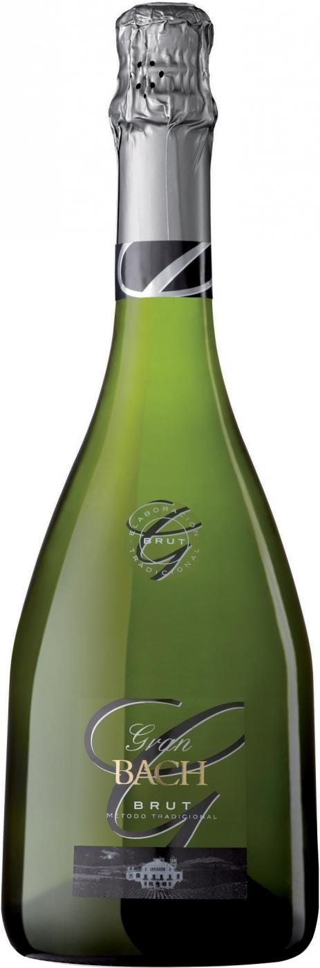 Вино игристое Гран Бах Брют белое 0,75л