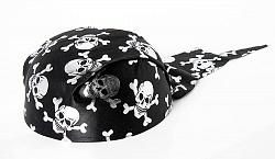 Шляпа Бандана с черепами серебро
