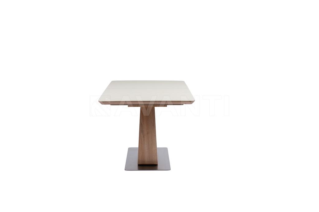 Стол обеденный URBAN (1200-1500x740х760) BROWN/LATTE (коричневый/латте)