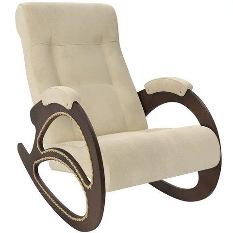 Кресло-качалка Комфорт Модель 4 орех/Verona Vanilla