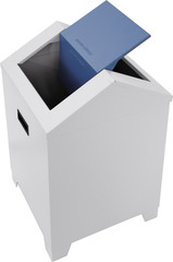 Контейнер для мусора с качающейся крышкой