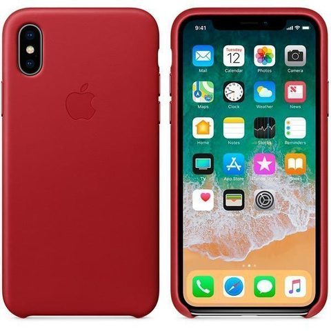 iPhone X Leather Case (PRODUCT)RED