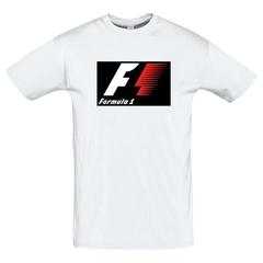 Футболка с принтом Формула-1 (Гонки/ F1/ Formula 1) белая 0013