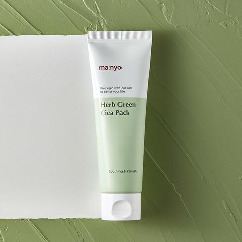 Успокаивающая охлаждающая маска с зеленым чаем для раздраженной кожи, 75 мл / Manyo Herb Green Cica Pack