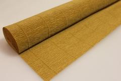 Бумага гофрированная простая светло-коричневый (567), 50 см./250 см.