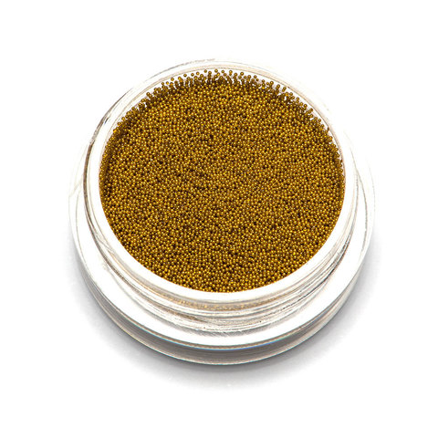 Бульонки супер мелкие - золото- 0,2 мм (3 гр.)