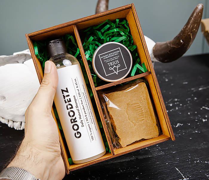 Мужской набор из натурального шампуня, бальзама и мыла «HENNESSY» фото 05