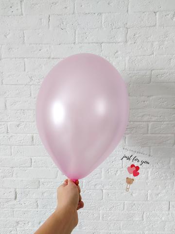 Воздушный шар розовый металлик