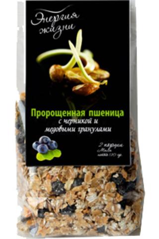 Пророщенная пшеница с черникой и медовыми гранулами 'Здоровая еда', 120г
