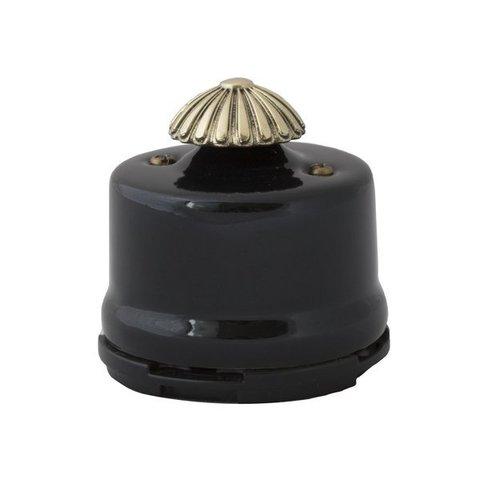 Светорегулятор, для наружного монтажа. Цвет Чёрный. Salvador. OPDMBL
