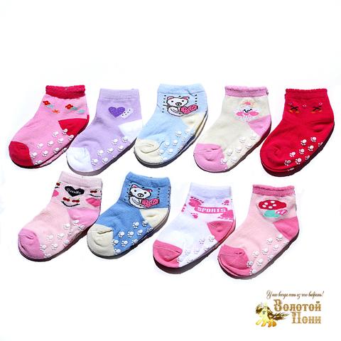 Носочки малышам с тормозами (0-18) 180516-Р3536-5