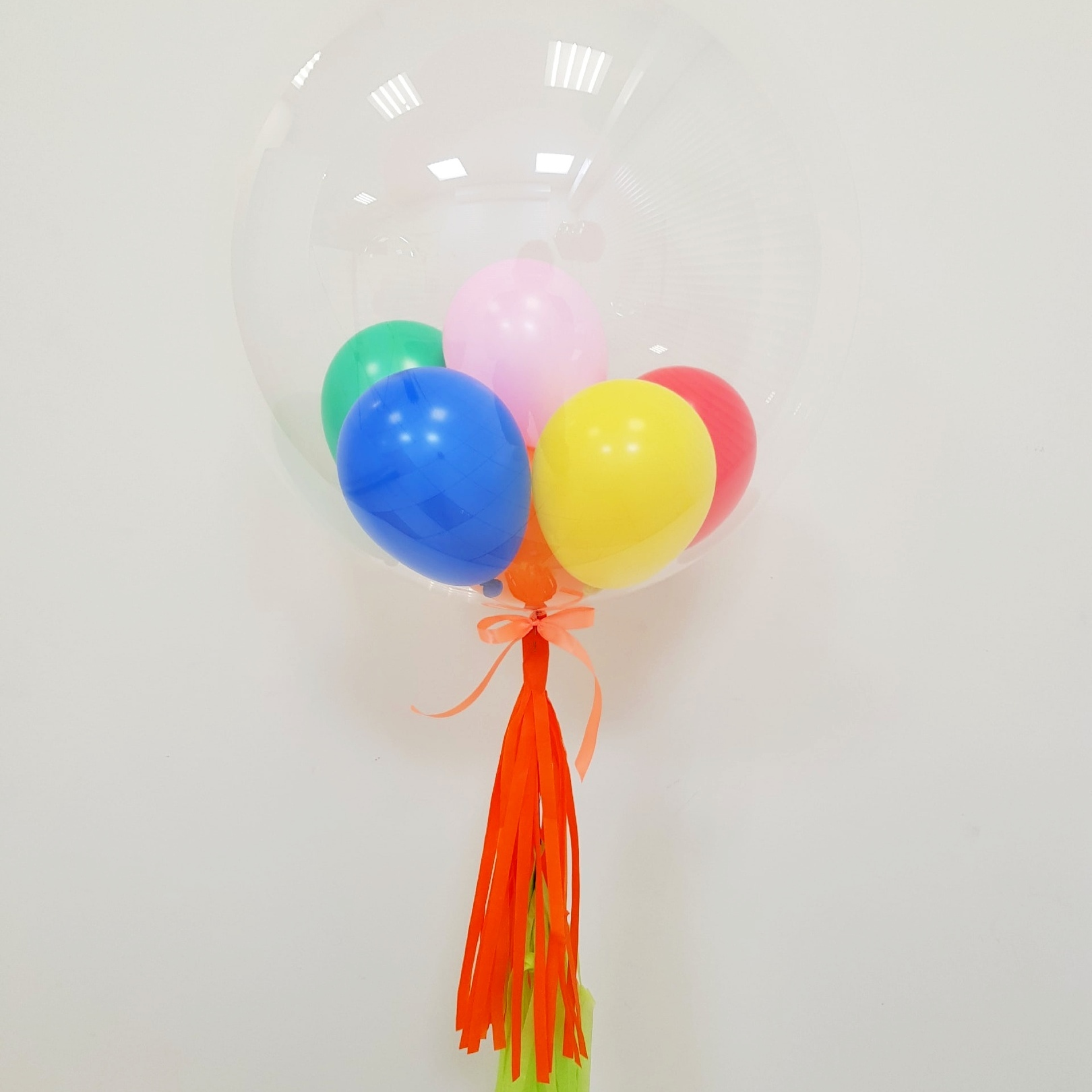 Шар Bubble с шарами внутри, радужный