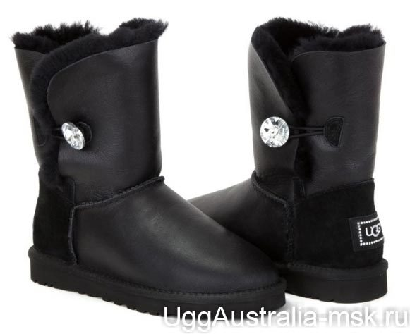 Ugg Bailey Button Bling Metallic Black