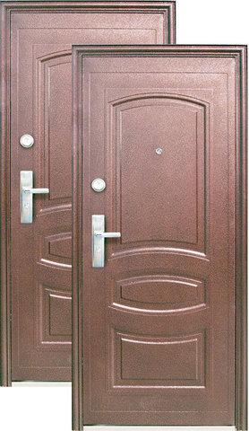 Дверь входная Кайзер АМ 500, 2 замка, 1,2 мм  металл, (медь антик+медь антик)