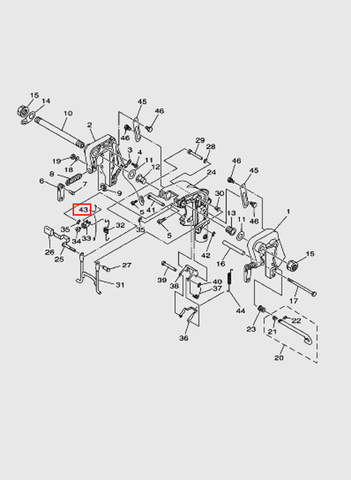 Тяга  для лодочного мотора T15, OTH 9,9 SEA-PRO (13-43)