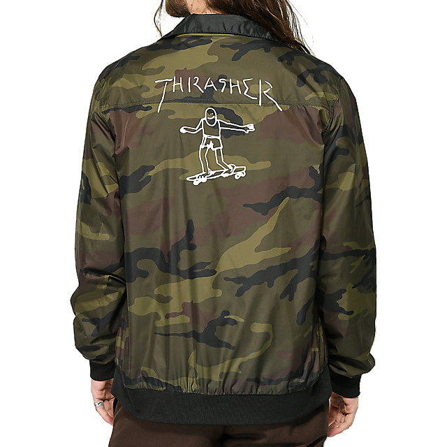 Куртка THRASHER Gonz Reversible Coach Jacket (Black/Camo)