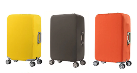 Чехол для чемодана оранжевый размер S