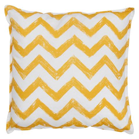 Подушка Yellow Zigzag желтые  зигзаги