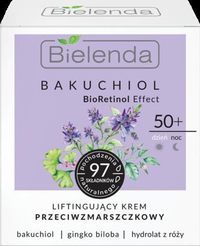 BIELENDA BAKUCHIOL BioRetinol Effect лифтинг-крем против морщин для лица 50+ 50мл