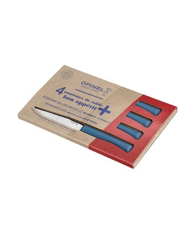 Набор столовых ножей Opinel, полимерная ручка, нерж, сталь, кор. синий. 002198