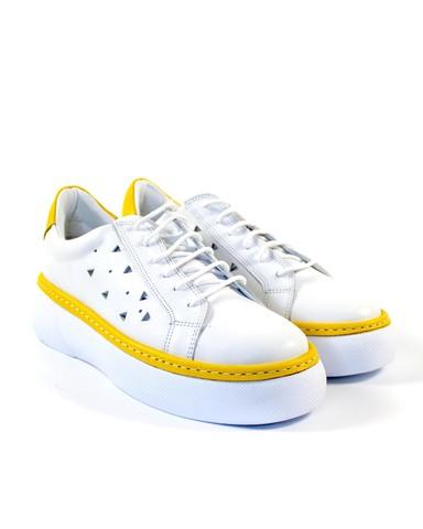 бело-желтые кеды SM