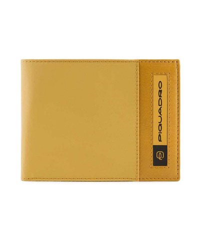 Кошелек Piquadro Bios, желтый, 13x10x1,5 см