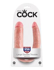 Фаллоимитатор на присоске U-Shaped Large Double Trouble телесный King Cock