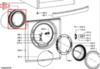 Манжета люка (уплотнитель двери) для стиральной машины Whirlpool (Вирпул) 481246068633