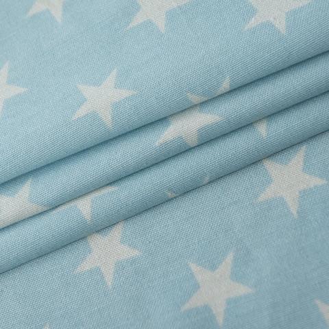 Ткань хлопок Сири голубой