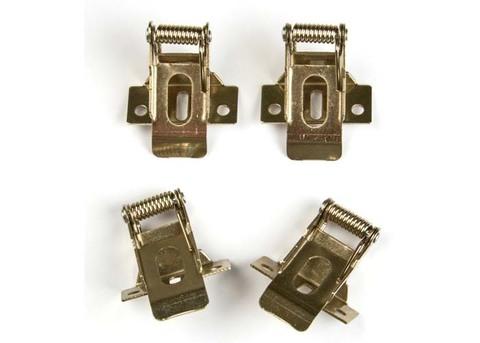 UFL-F04 SILVER 150 POLYBAG Комплект крепежных скоб на пружинах (4шт.) для установки в гипсокартон. TM Uniel.