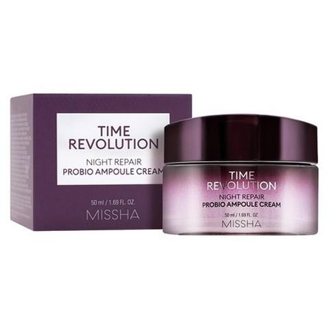 Missha Time Revolution Night Repair Probio Ampoule Cream ночной омолаживающий ампульный крем с пробиотиками